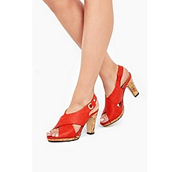 Wallis - Orange slingback sandals