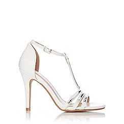 Wallis - White t-bar sandal