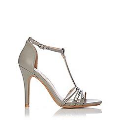 Wallis - Grey t-bar sandal