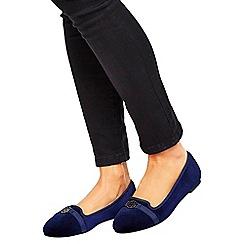 Wallis - Navy ballerina shoes