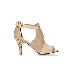 Wallis - Stone vamp peep toe sandals