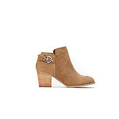 Wallis - Tan buckle strap ankle boots