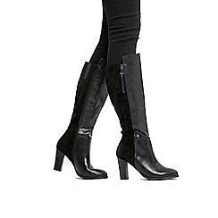 Wallis - Black side zip high leg boots