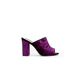 Wallis - Purple velvet detail mules