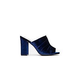 Wallis - Blue velvet detail mules