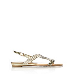 Wallis - Gold metallic flat sandal