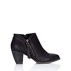 Wallis - Black side zip ankle boot