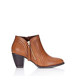 Wallis - Camel side zip casual ankle boot
