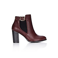 Wallis - Berry block heel ankle boot