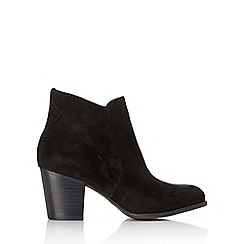 Wallis - Black suede cowboy ankle boot