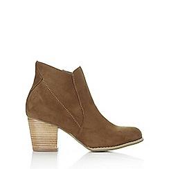 Wallis - Mocha suede cowboy ankle boot