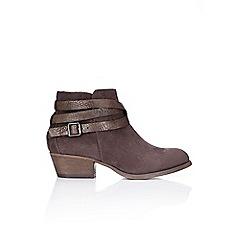 Wallis - Dark grey low heel ankle boot