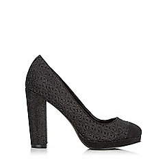 Wallis - Black platform court shoe