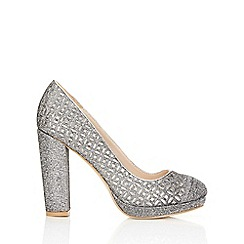 Wallis - Silver platform court shoe