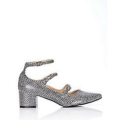 Wallis - Monochrome block heel strappy shoe
