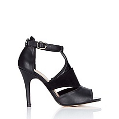 Wallis - Black ankle strap heeled sandal