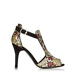 Wallis - Gold heeled t-bar sandal