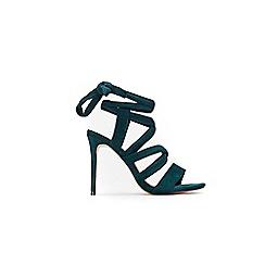 Wallis - Green wrap around tie sandals