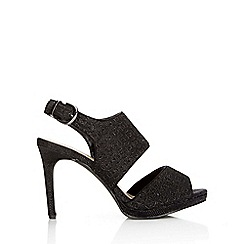 Wallis - Black glitter heeled sandal