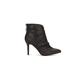 Wallis - Black detailed ankle boots