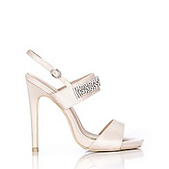Wallis - Oyster jewelled satin sandal