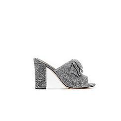 Wallis - Silver bow mules
