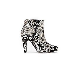 Wallis - Black patterned ankle boots