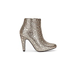 Wallis - Gold patterned ankle boots