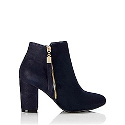 Wallis - Navy side zip ankle boot