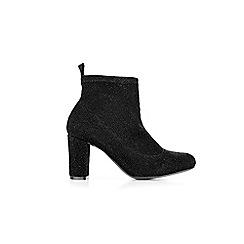 Wallis - Black sock high heel boots