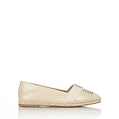 Wallis - Gold striped espadrille