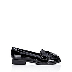 Wallis - Black patent tassle loafer