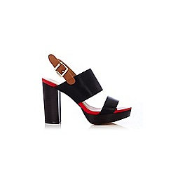 Wallis - Double band block heel platform