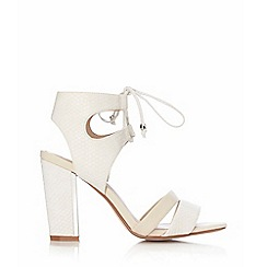 Wallis - Cream ankle lace up sandal