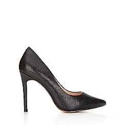Wallis - Black high heel point court shoe
