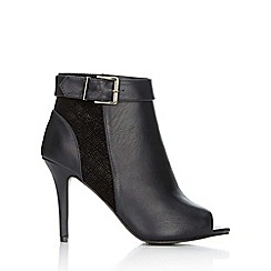 Wallis - Black peep toe ankle boot