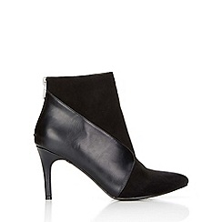 Wallis - Black faux suede leather ankle boot