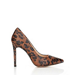 Wallis - Dark animal print high heel court
