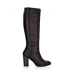 Wallis - Black knee high heeled boot
