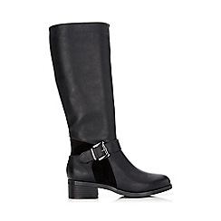 Wallis - Black high leg riding boot