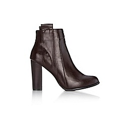 Wallis - Brown tab ankle boot