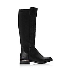 Wallis - Black stretch knee high boot