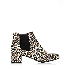 Wallis - Leopard print ankle boot