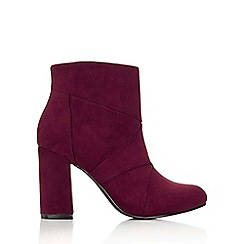 Wallis - Berry patchwork ankle boot