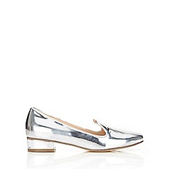 Wallis - Silver low heel loafer
