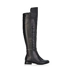 Wallis - Black lizard two tone knee high boot