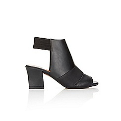 Wallis - Black peep toe shoe boot
