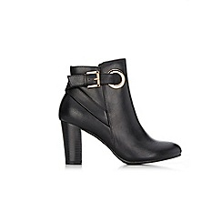 Wallis - Black eyelet detail ankle boot