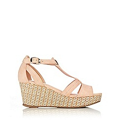 Wallis - Nude t-bar wedge