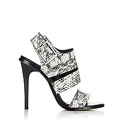Wallis - Strappy snake print high heel